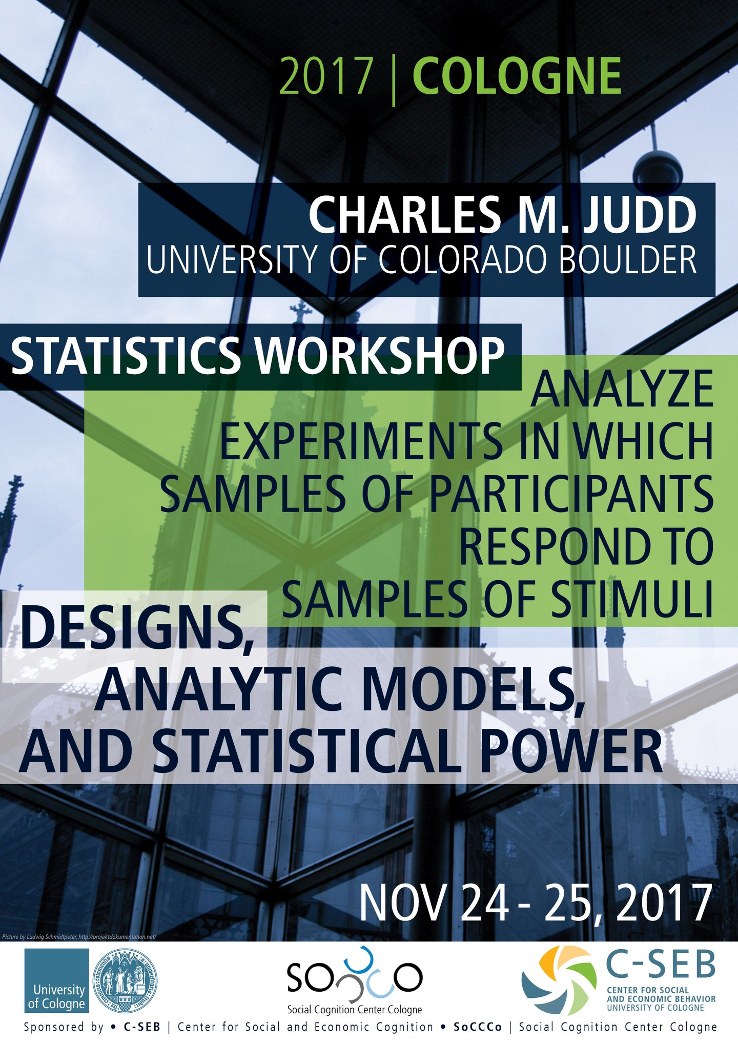 Statistics Workshop | Charles M. Judd